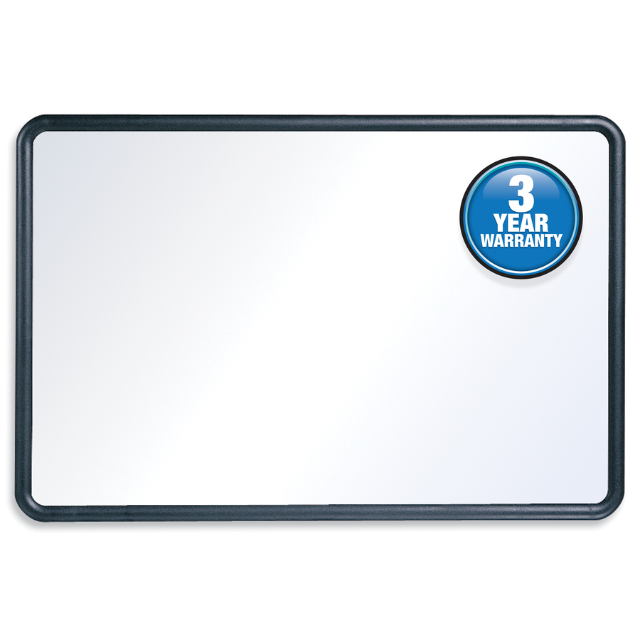 Acco Brands Corporation Quartet® Contour Whiteboard, 3 X 2, Black Frame - 36 (3 Ft) Width X 24 (2 Ft) Height - White Melamine Surface - Black Plastic Frame - Rectangle - Horizontal/vertical - 1 / Each