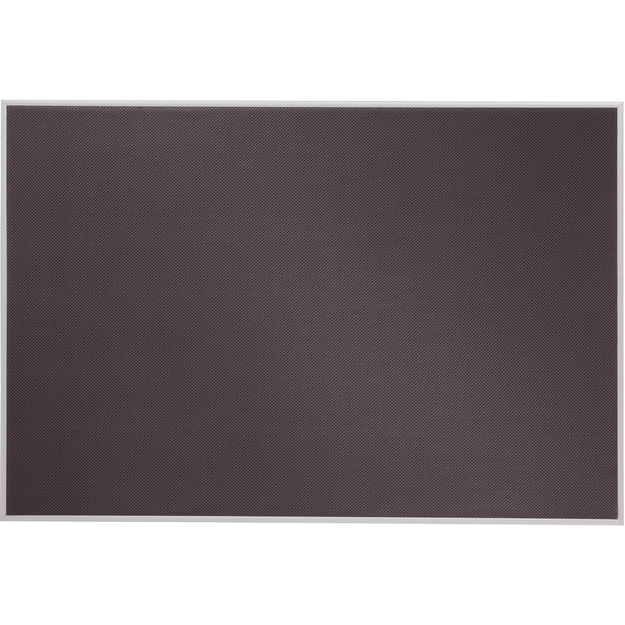 Acco Brands Corporation Quartet Matrix® Gray Bulletin Board, 34 X 23, Fabric, Aluminum Frame - 23 Height X 34 Width - Gray Woven Fabric Surface - Silver Aluminum Frame - 1 / Each