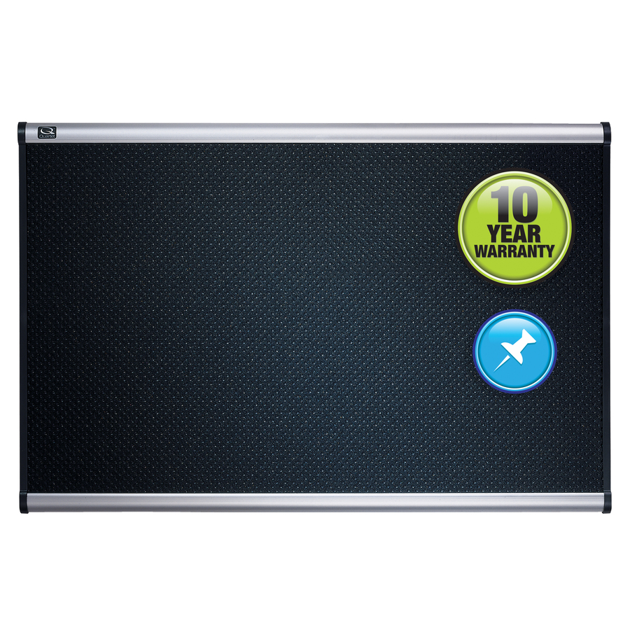 Quartet® Prestige® Embossed Foam Bulletin Board, 4\' x 3\', Aluminum ...