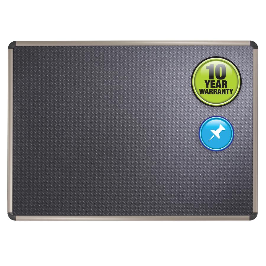 Acco Brands Corporation Quartet® Prestige® Embossed Foam Bulletin Board - 36 Height X 48 Width - Black Foam Surface - 1 Each