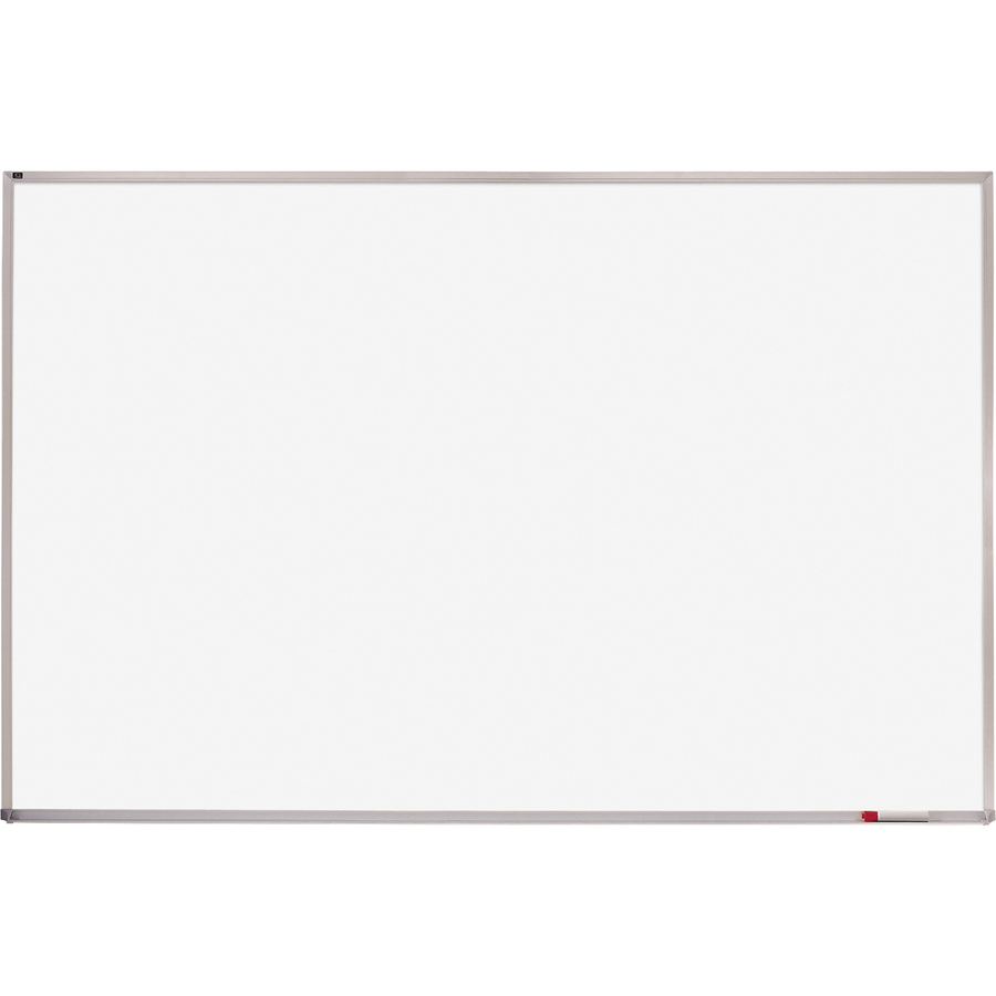 Acco Brands Corporation Quartet® Whiteboard, 4 X 8, Aluminum Frame - 48 (4 Ft) Width X 96 (8 Ft) Height - White Melamine Surface - Silver Aluminum Frame - Horizontal - 1 / Each