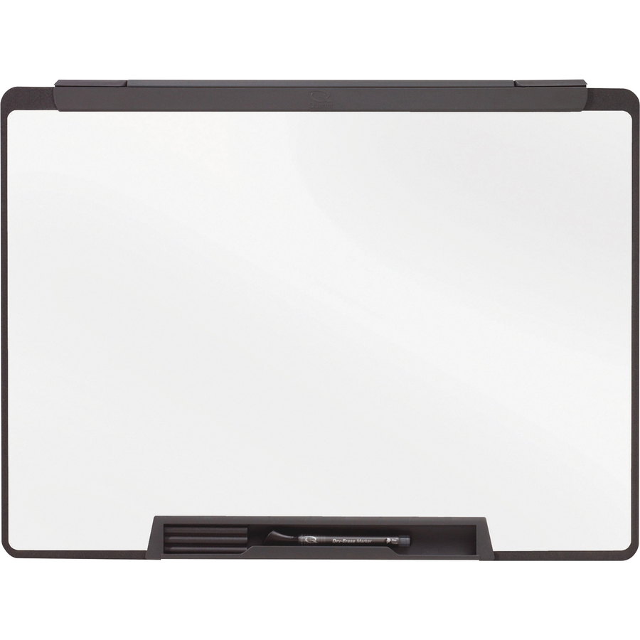 Acco Brands Corporation Quartet Motion® Cubicle Whiteboard, 24 X 18, Melamine Surface - 24 (2 Ft) Width X 18 (1.5 Ft) Height - White Melamine Surface - Black Plastic Frame - 1 / Each
