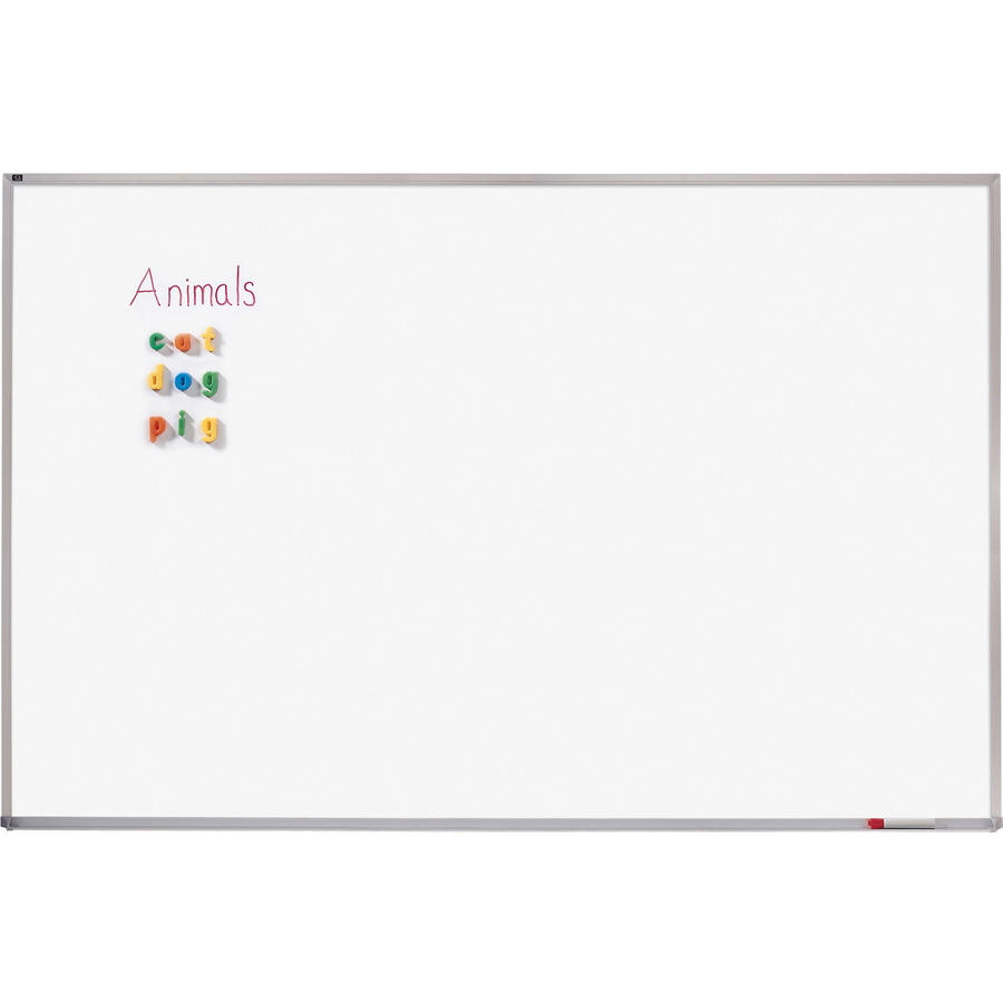 Acco Brands Corporation Quartet® Porcelain Whiteboard, 4 X 8, Magnetic, Aluminum Frame - 96 (8 Ft) Width X 48 (4 Ft) Height - White Porcelain Surface - Silver Aluminum Frame - Horizontal - 1 Each