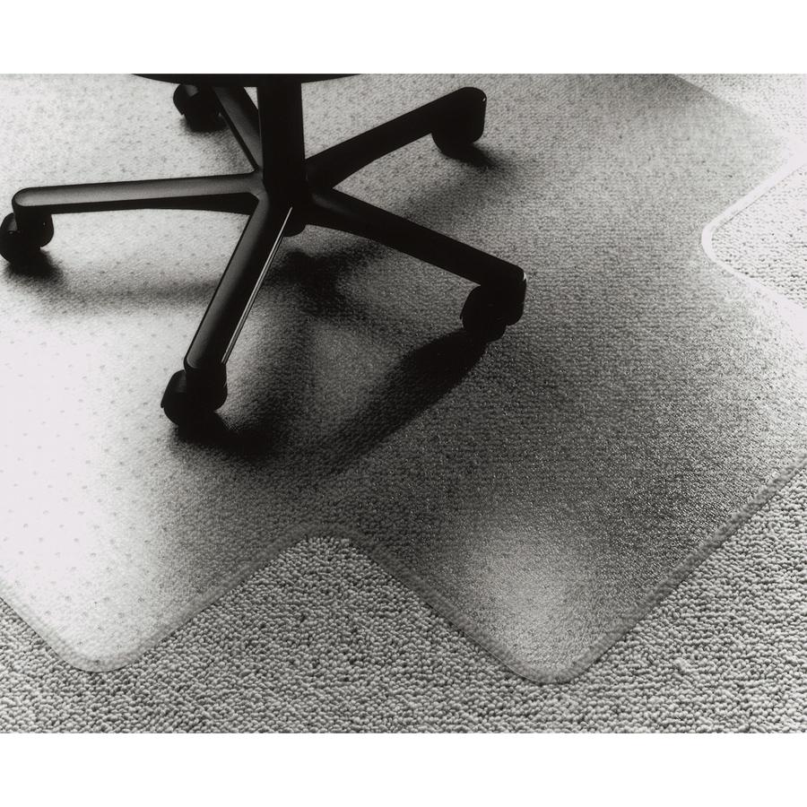 skilcraft vinyl chairmat carpeted floor 53 length x 45 width x