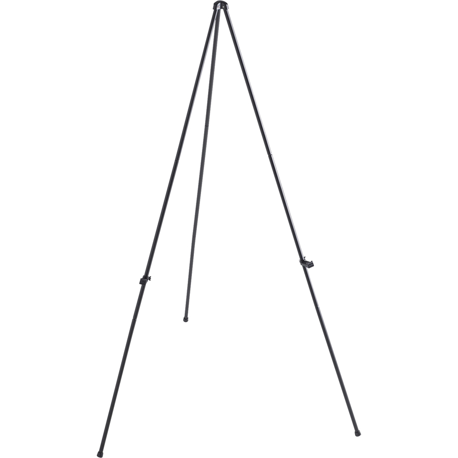 Lorell Heavy-duty Adjustable Display Folding Easel - 31 (2.6 Ft) Width X 63 (5.3 Ft) Height - Black Frame - 1 / Each