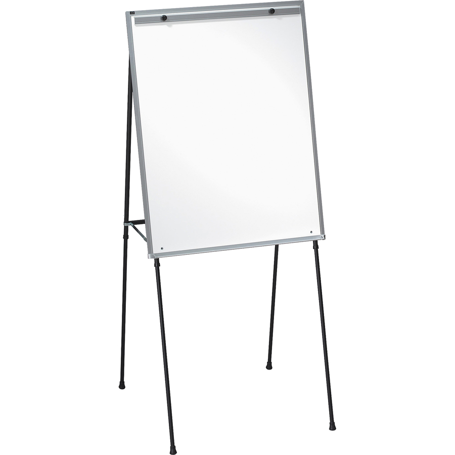 Lorell Dry-erase White Board Easel - 28 (2.3 Ft) Width X 34 (2.8 Ft) Height - Black Frame - 1 / Each