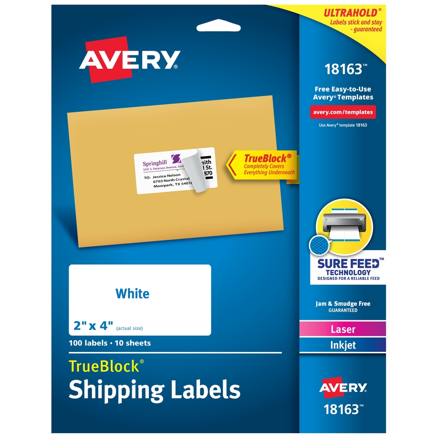 printing avery labels