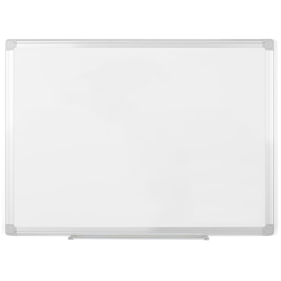 Bi-silque S.a Mastervision Earth Silver Easy-clean Dry-erase Board - 48 (4 Ft) Width X 36 (3 Ft) Height - White Melamine Surface - Aluminum Frame - Rectangle - 1 / Each