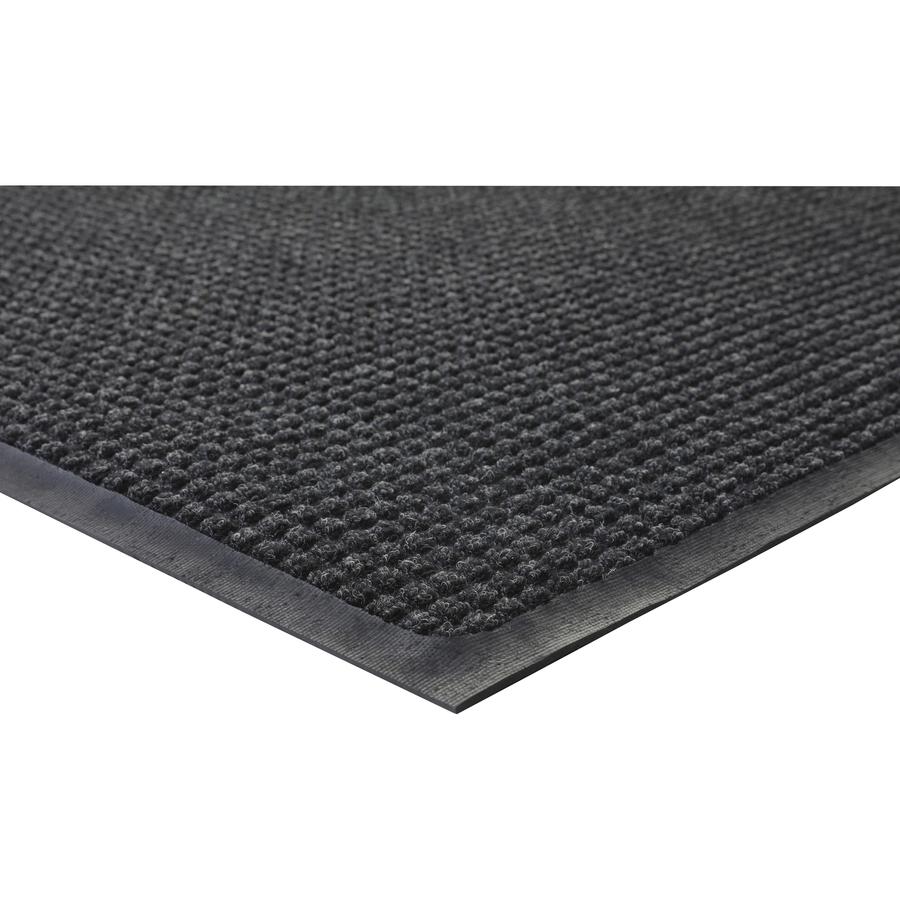 Genuine Joe Waterguard Indoor/outdoor Mats - Carpeted Floor, Hard Floor, Indoor, Outdoor - 72 Length X 48 Width - Rubber, Polypropylene - Charcoal Gray