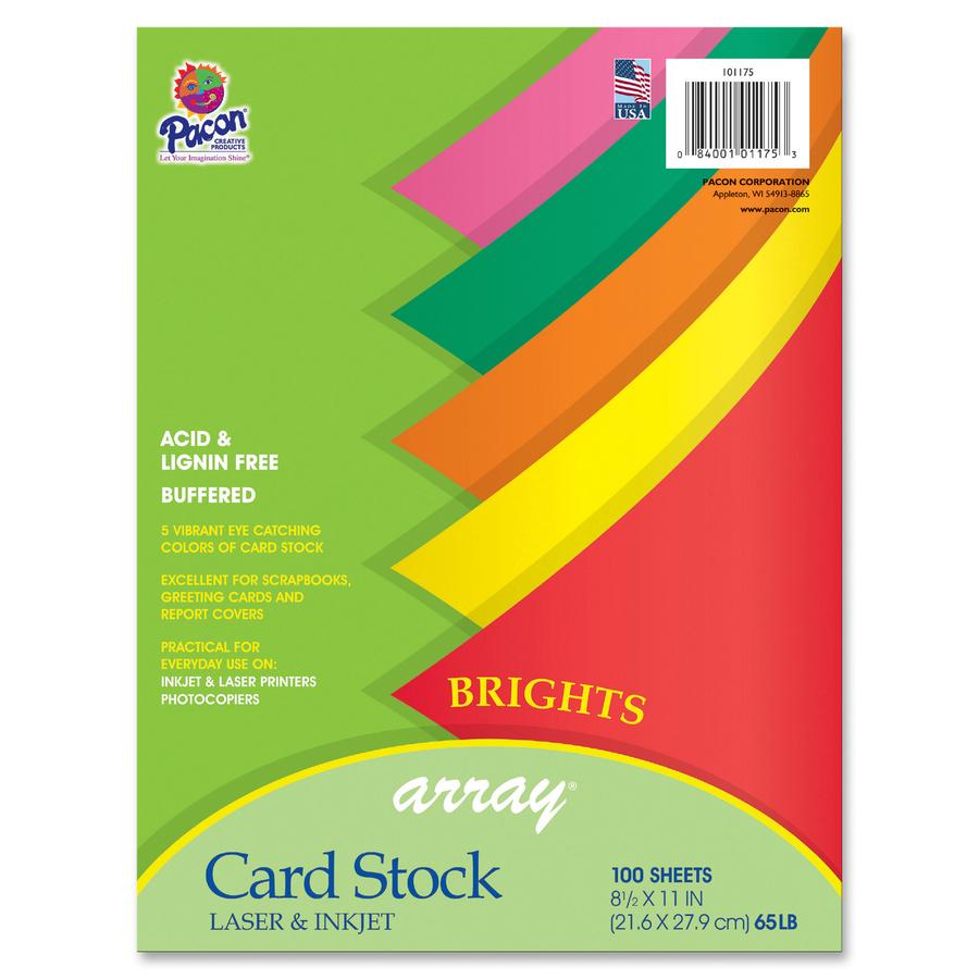 Pacon Printable Multipurpose Card Stock Mac Papers Inc