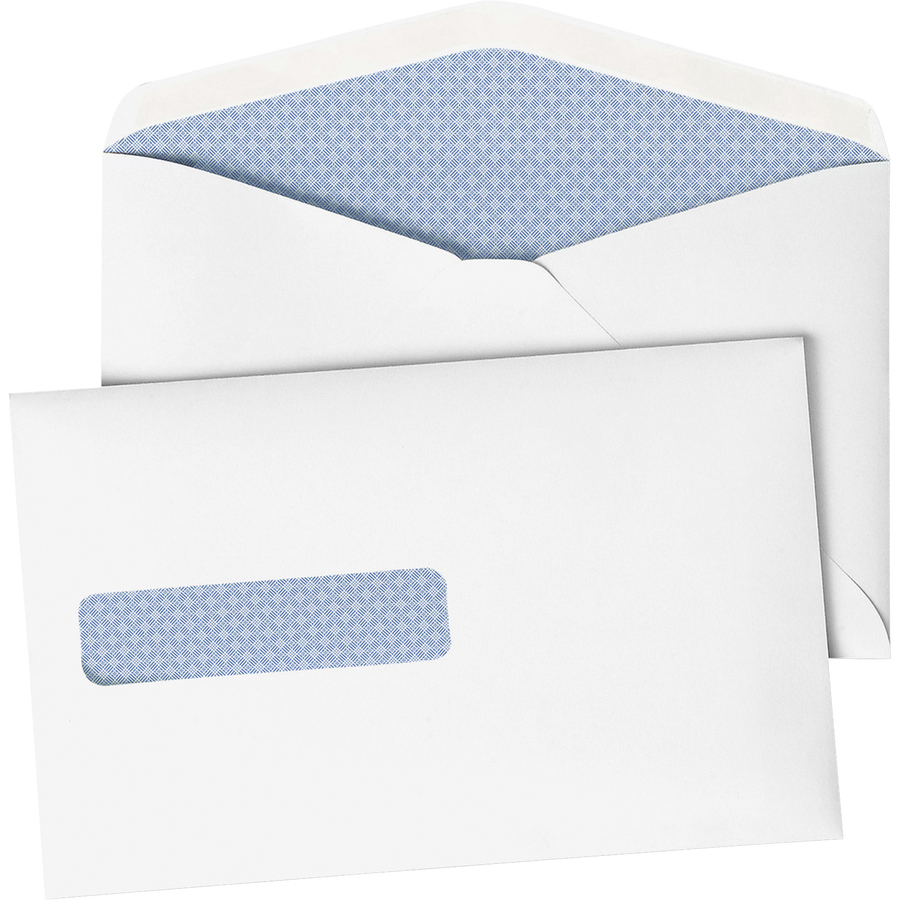 Quality park postage saving window envelopes qua90063 for Window envelopes