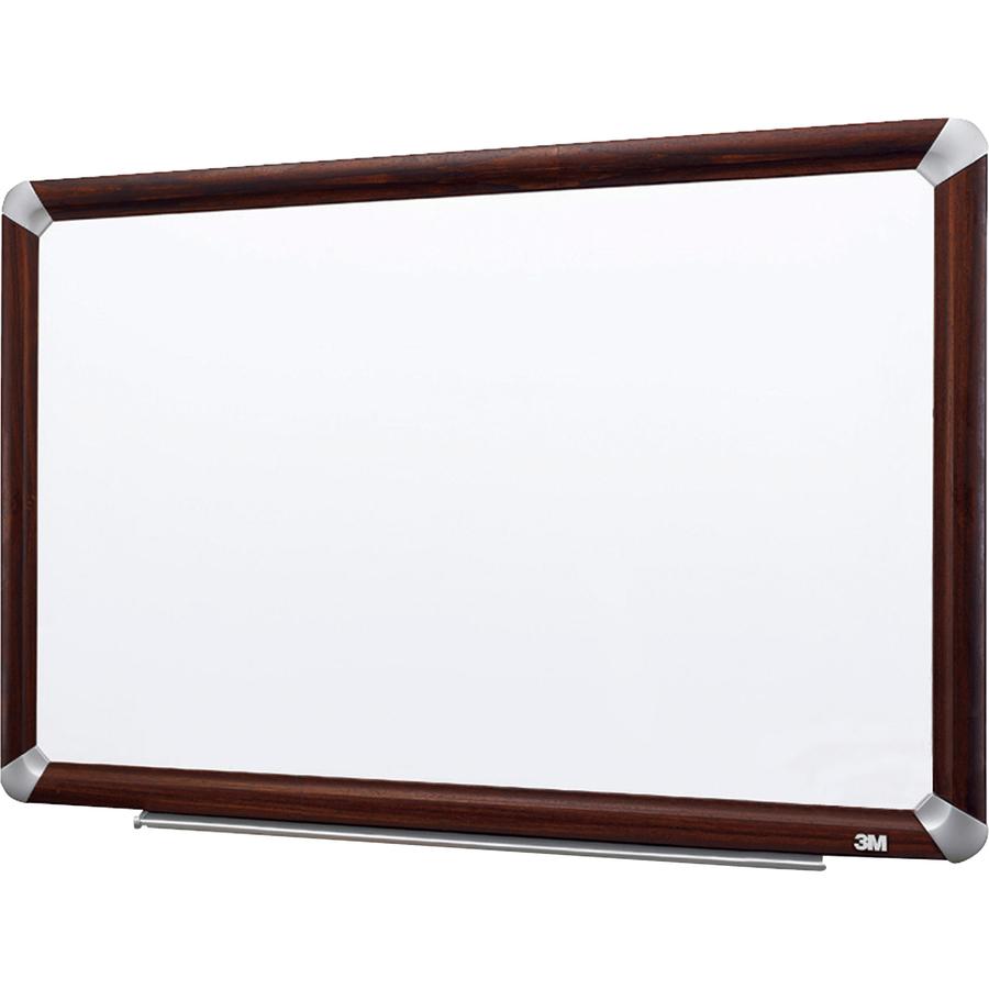 3M Mahogany Frame Melamine Dry-erase Boards - Servmart