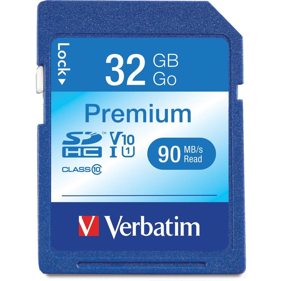 verbatim premium 32 gb secure digital high capacity sdhc. Black Bedroom Furniture Sets. Home Design Ideas