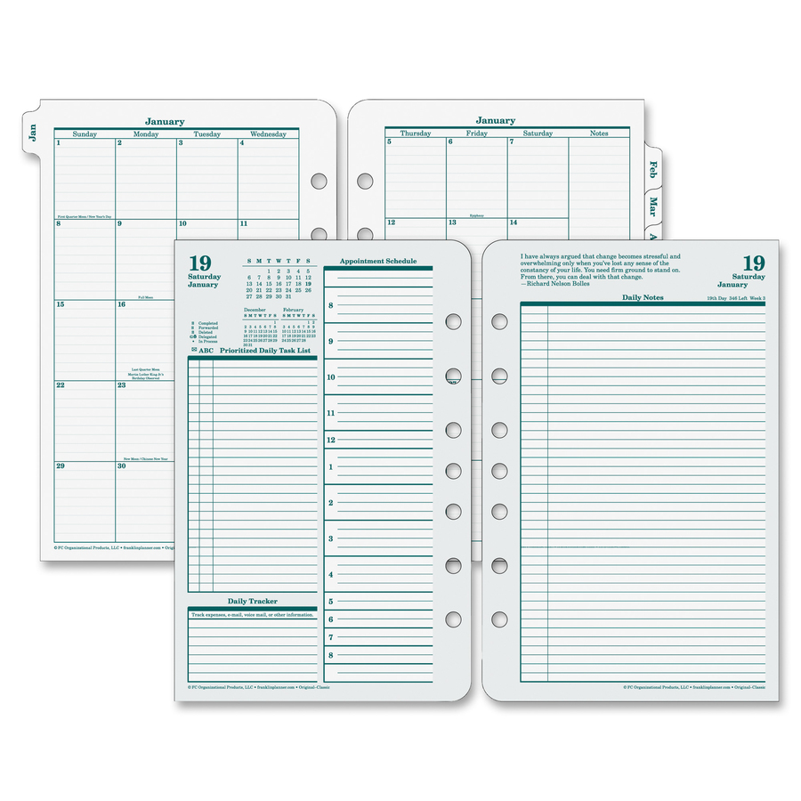 Franklin Covey Original Full Year Daily Planning Pages - Servmart