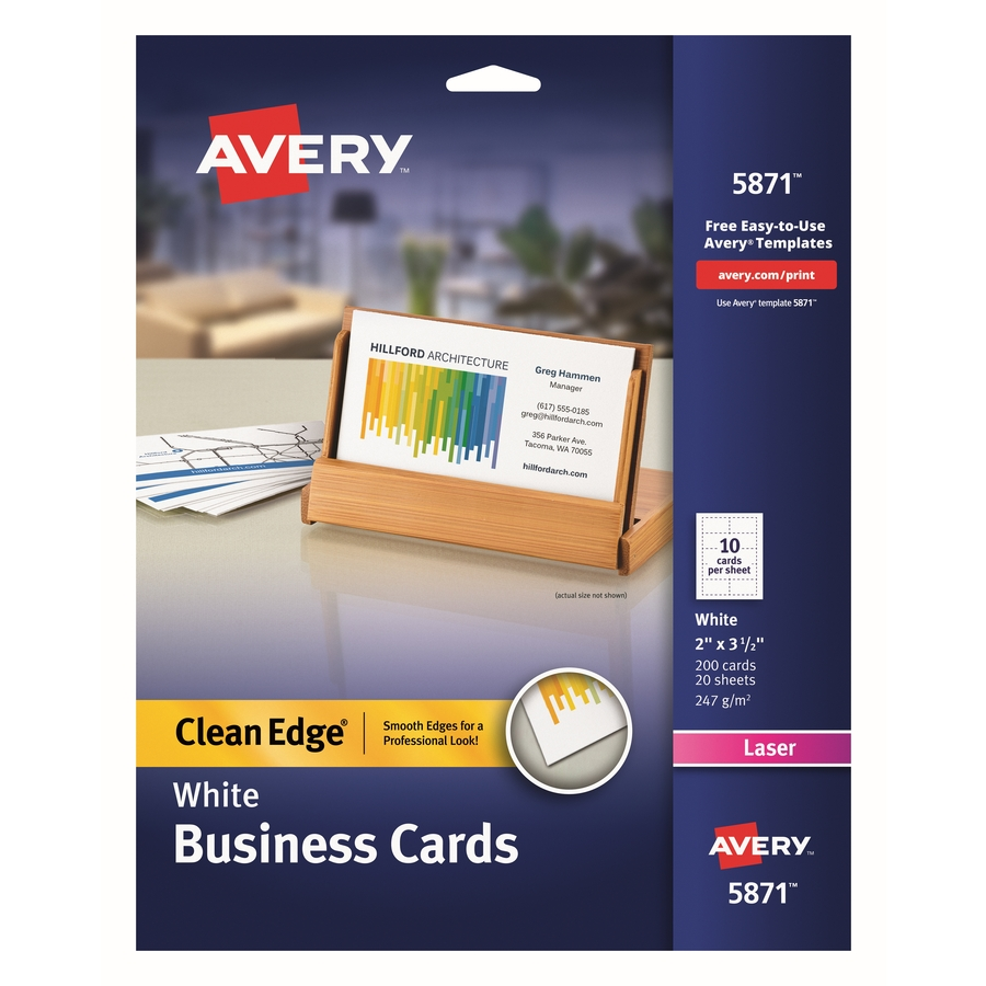 Avery clean edge laser print business card mac papers inc life style original fbccfo Images
