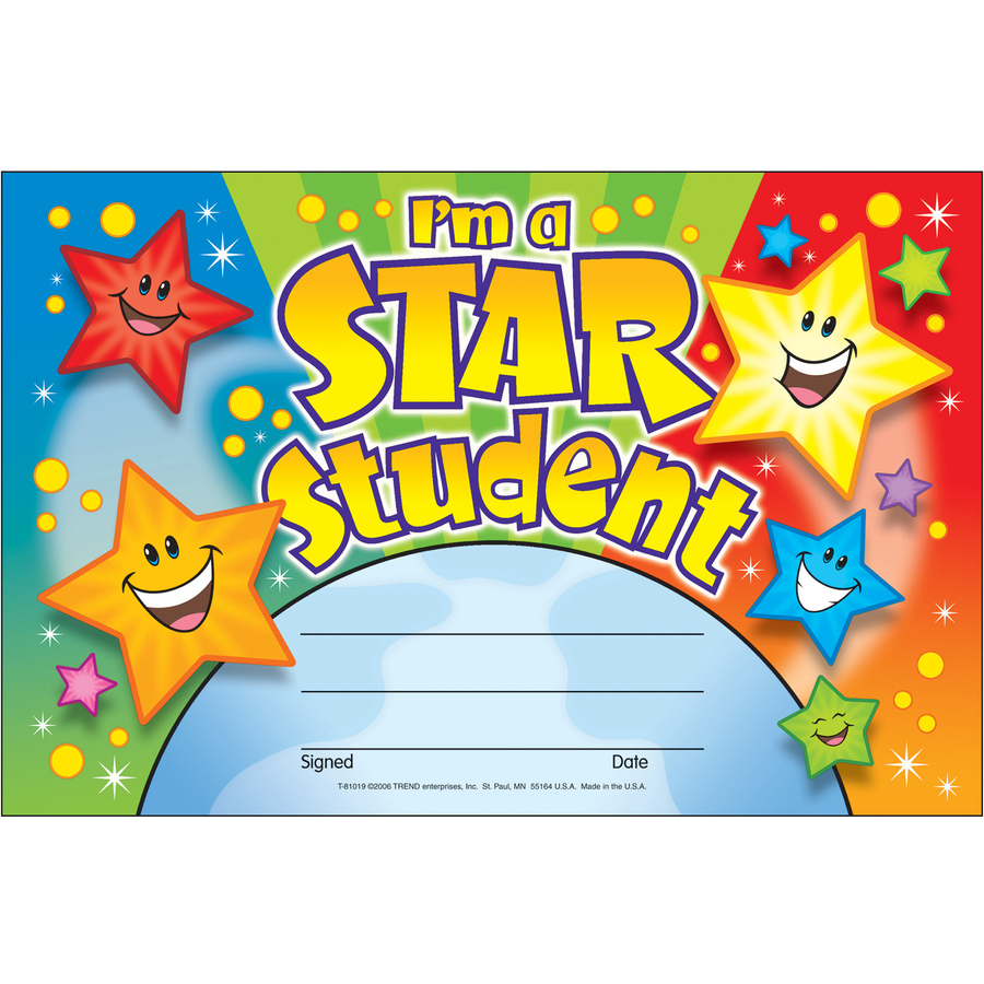 Trend Im A Star Student Recognition Awards Mac Papers Inc
