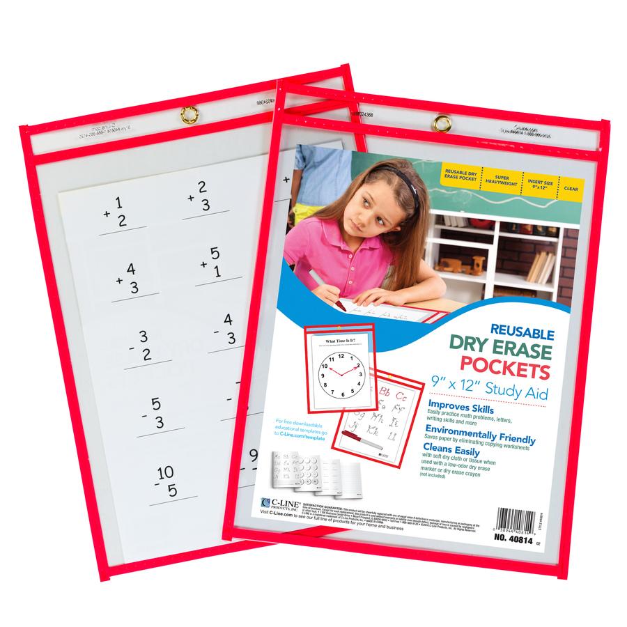 C-Line Reusable Dry Erase Pocket - Mac Papers Inc