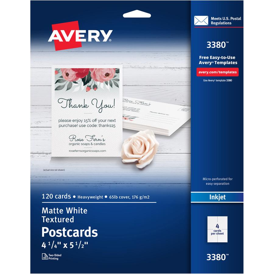 Avery Invitation Card Ra Office Supplies