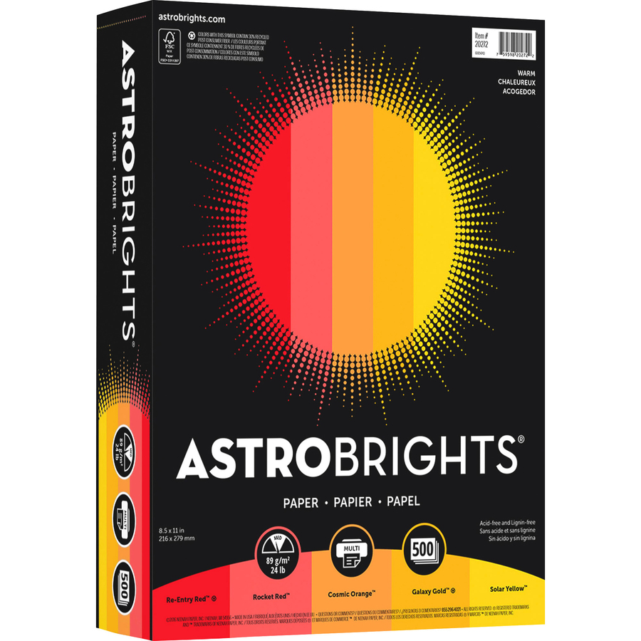 Astrobrights Inkjet Laser Print Colored Paper