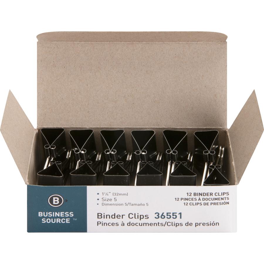 Business Source Fold-back Binder Clips - Mi Office Supply