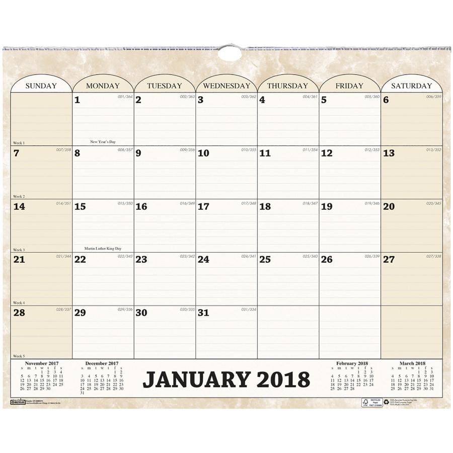 HOD319 - House of Doolittle Horizontal Wall Calendar - Great Office Buys