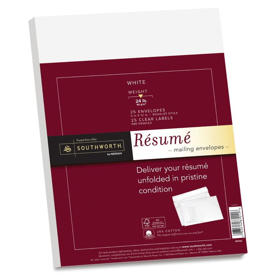 southworth linen resume mailing envelopes