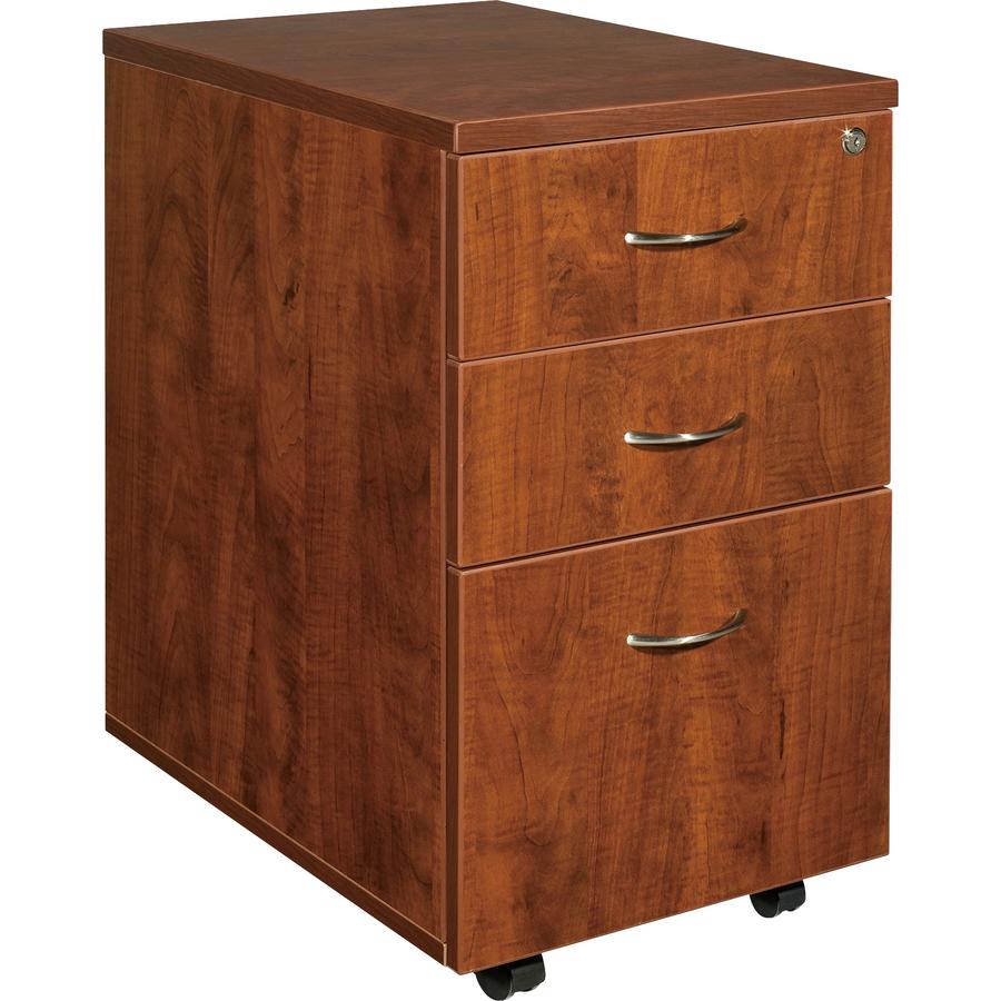 Lorell Essentials Pedestal - 15.8 X 22 X 28.4 X 1 - 3 X Box Drawer(S), File Drawer(S) - Finish: Cherry, Laminate