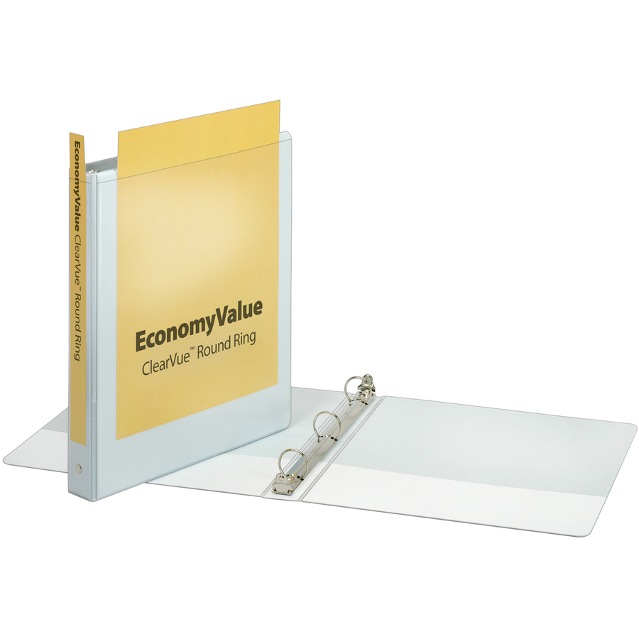 Cardinal Economyvalue Clearvue Round Ring Binder The
