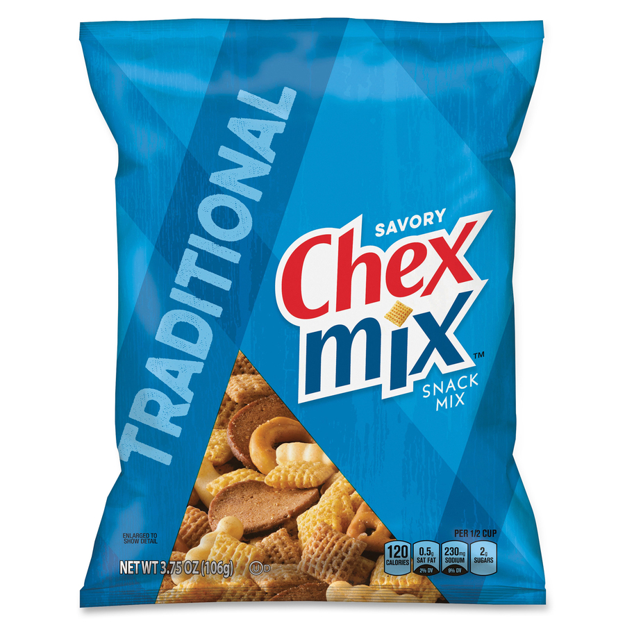 Chex Traditional Snack Size Mix Gnmsn35181 Supplygeeks Com