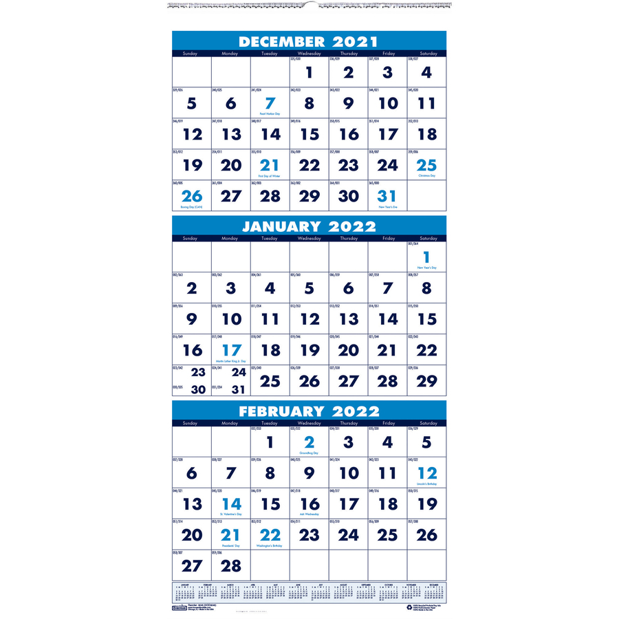 Monthly Wall Calendar : House of doolittle month vertical compact wall calendar