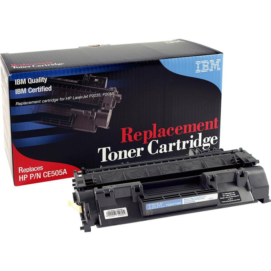 ibm remanufactured toner cartridge alternative for hp 05a ce505a ibmtg85p7008. Black Bedroom Furniture Sets. Home Design Ideas
