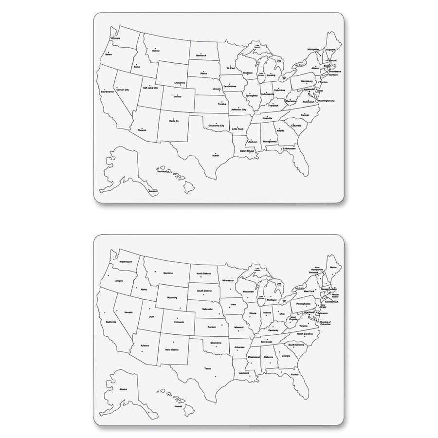 ChenilleKraft Large USA Map Whiteboard Servmart - Us map whiteboard