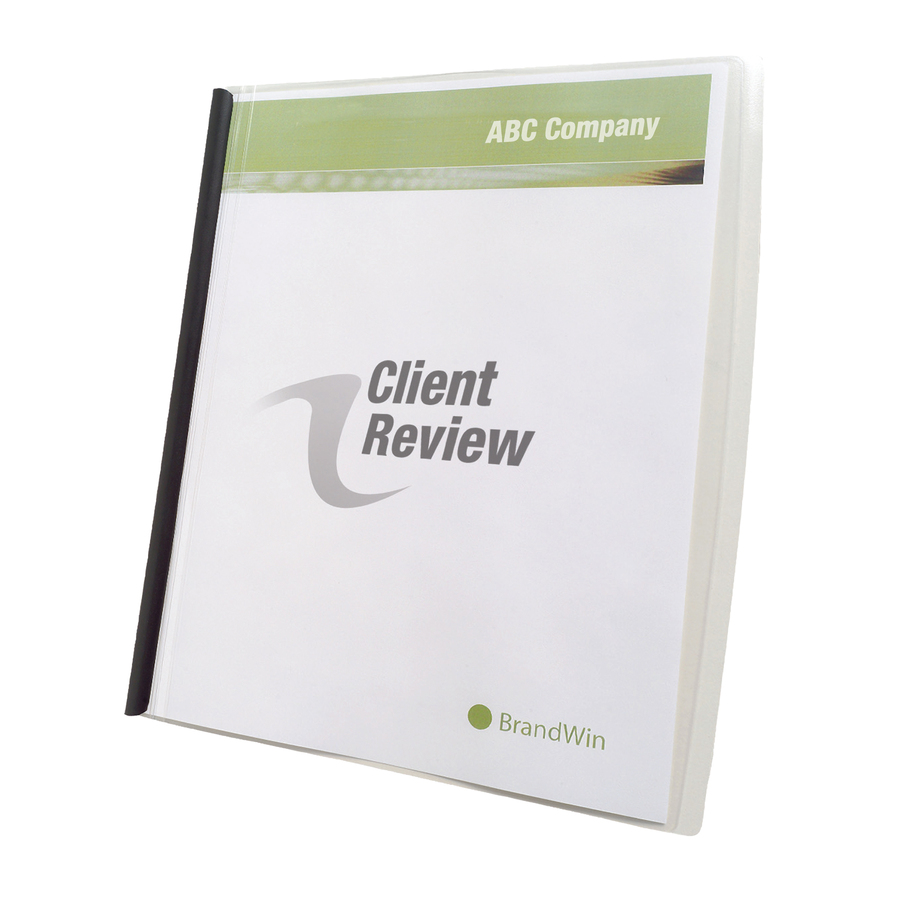 GBC® Slide n Bind Report Cover - Letter - 8 1/2 x 11 Sheet Size - 20 ...
