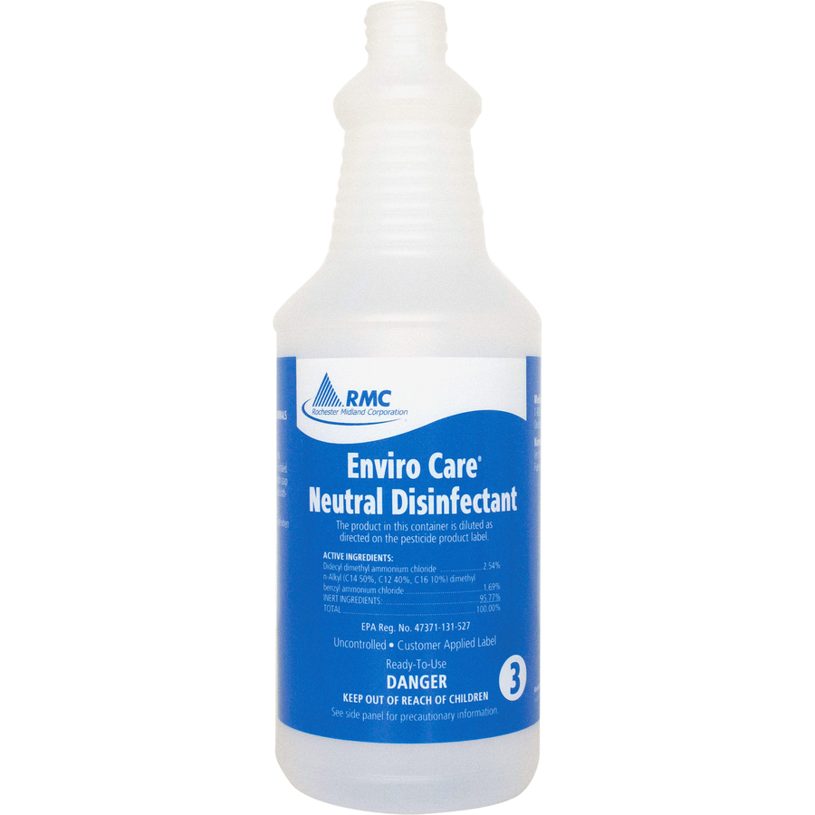 ! Bottle for Enviro Care Neutral Disinfectant Frosted Clear Plastic #04A2C7