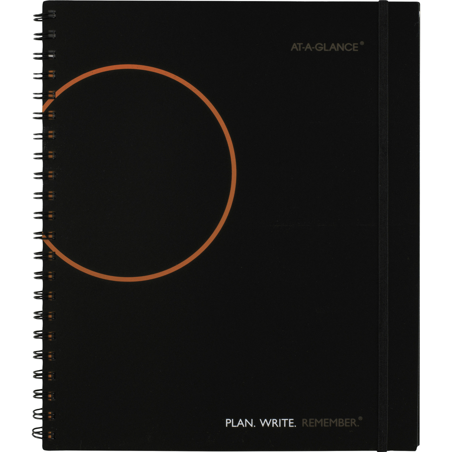 at a glance planning notebook lined with monthly calendars servmart