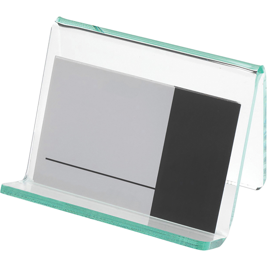 Lorell Acrylic Hint of Green Business Card Holder - Servmart