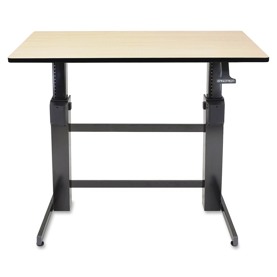 Enjoyable Ergotron Inc Ergotron Workfit D Sit Stand Desk Birch Surface Rectangle Top 47 60 Table Top Width X 23 50 Table Top Depth 50 60 Height Download Free Architecture Designs Scobabritishbridgeorg