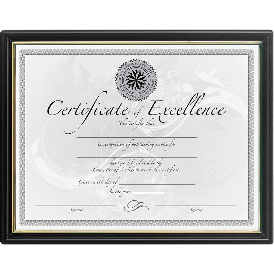 DAX Black & Gold Certificate Frames - Servmart