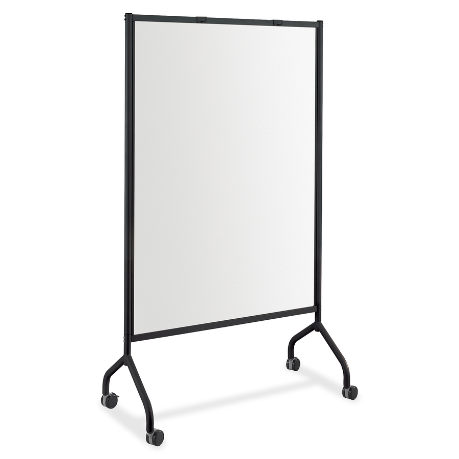 Safco Products Safco Impromptu Magnetic Whiteboard Screens - White Surface - Black Steel Frame - Rectangle - 1 / Each
