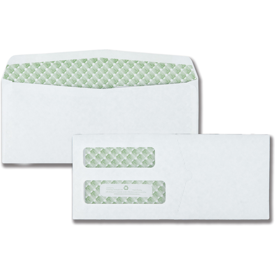 Quality park sugarcane paper double window envelopes for Window envelopes