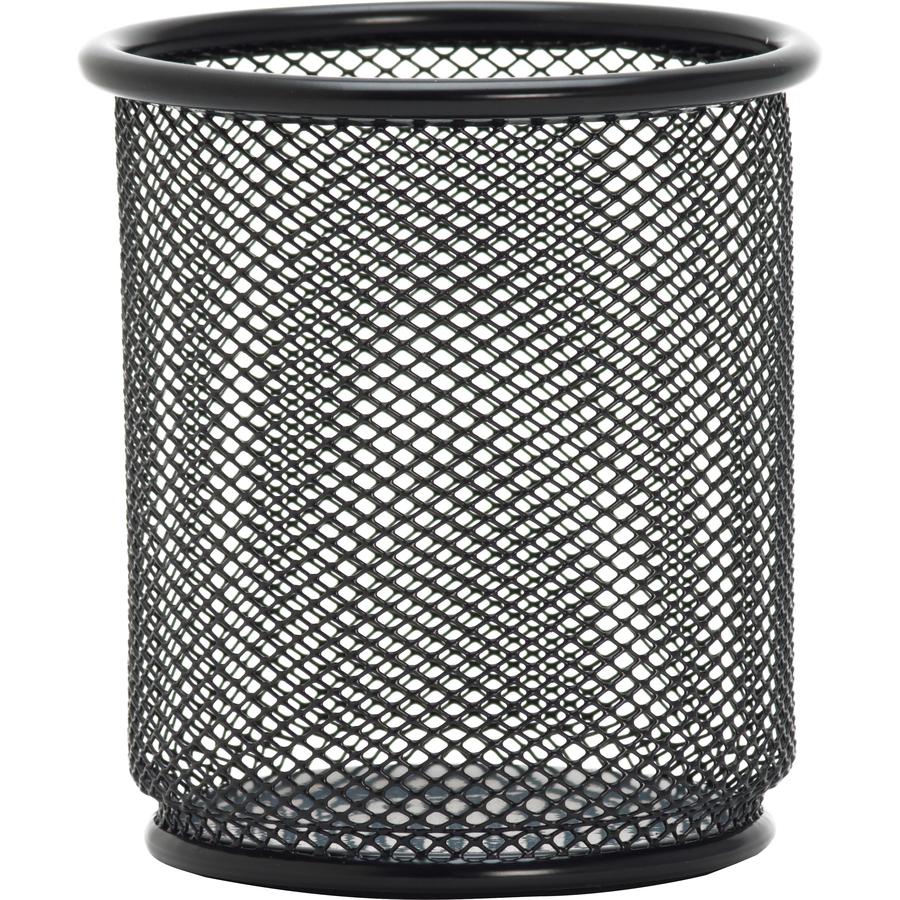 Lorell Black Mesh/Wire Pencil Cup Holder - Servmart