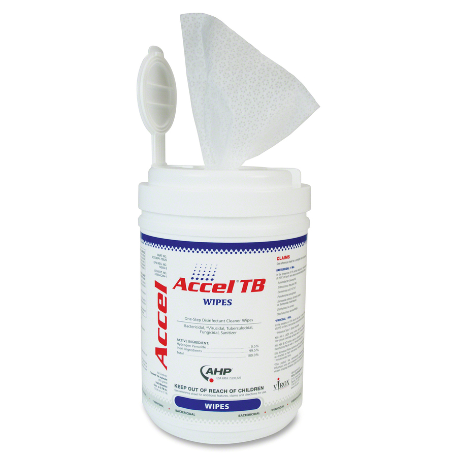 Accel TB Surface Disinfectant Cleaner Wipes Large Canister Wipe 160  #B11A1F