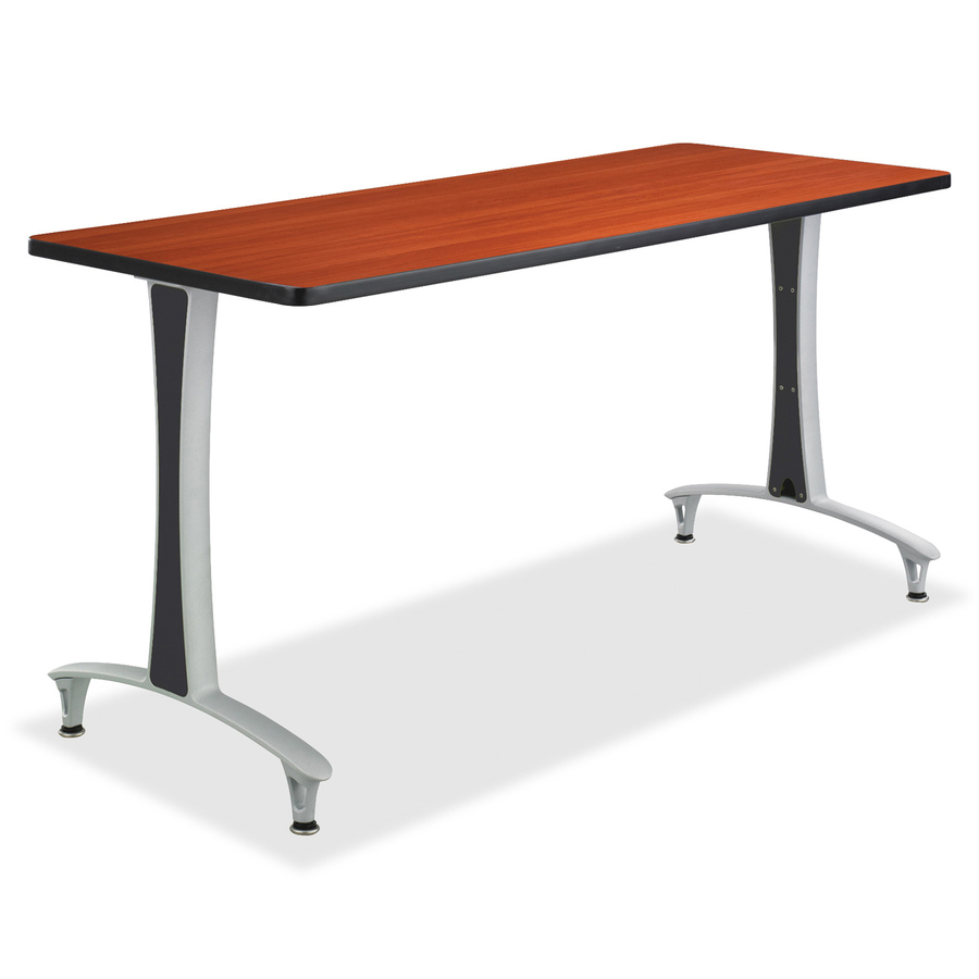 Safco cherry rumba training table w t legs glides saf2095cysl - Table glides for legs ...