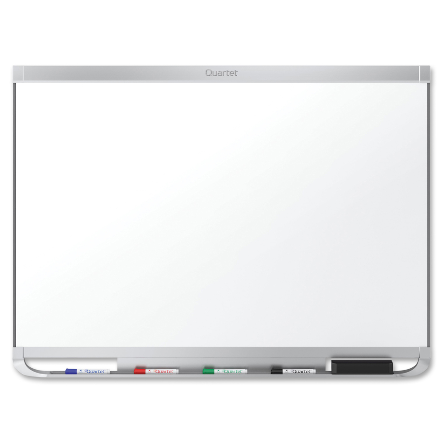 Acco Brands Corporation Quartet® Prestige® 2 Duramax® Porcelain Magnetic Whiteboard, 6 X 4, Aluminum Frame - 72 (6 Ft) Width X 48 (4 Ft) Height - White Porcelain Surface - Silver Aluminum Frame - Horizontal - 1 Each - Taa Compliant