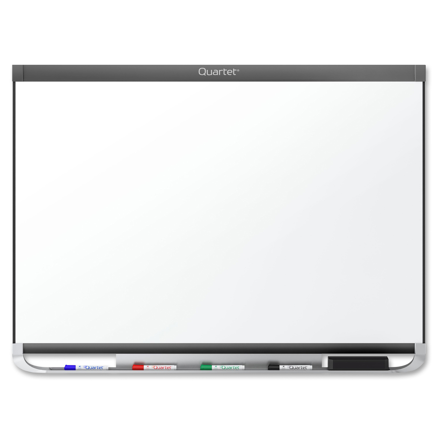 Acco Brands Corporation Quartet® Prestige® 2 Duramax® Porcelain Magnetic Whiteboard, 8 X 4, Graphite Finish Frame - 96 (8 Ft) Width X 48 (4 Ft) Height - White Porcelain Surface - Graphite Frame - Horizontal - 1 / Each - Taa Compliant