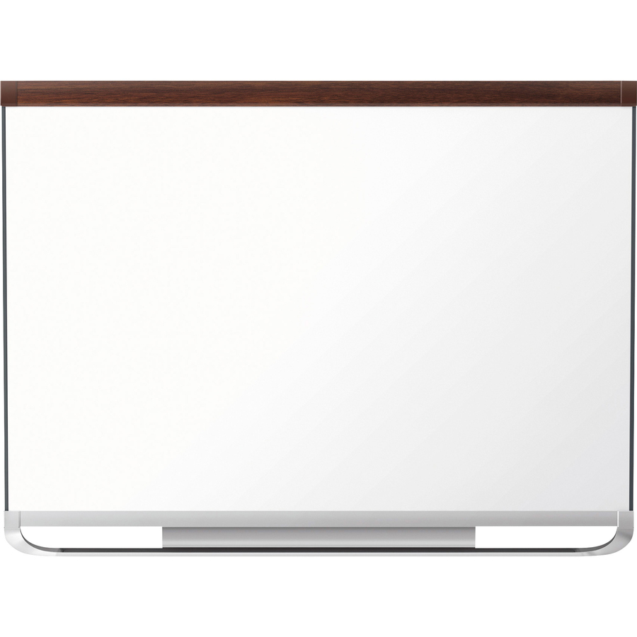 Acco Brands Corporation Quartet® Prestige® 2 Duramax® Porcelain Magnetic Whiteboard, 8 X 4, Mahogany Finish Frame - 96 (8 Ft) Width X 48 (4 Ft) Height - White Porcelain Surface - Mahogany Frame - Horizontal - 1 Each