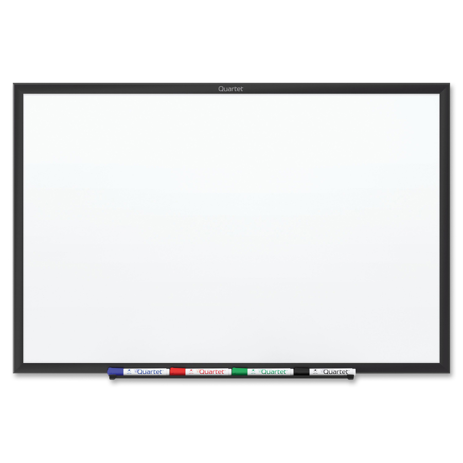 Acco Brands Corporation Quartet® Classic Magnetic Whiteboard - 24 (2 Ft) Width X 18 (1.5 Ft) Height - White Painted Steel Surface - Black Aluminum Frame - Horizontal/vertical - 1 Each
