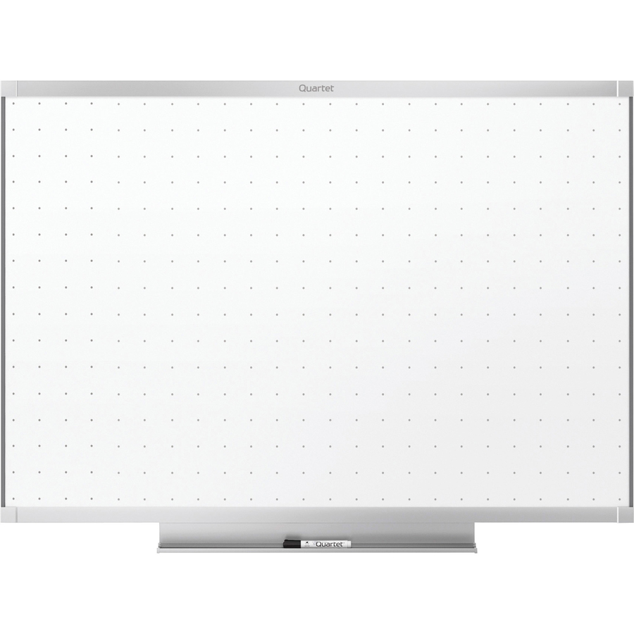 Acco Brands Corporation Quartet® Prestige® 2 Total Erase®whiteboard, 4 X 3, Aluminum Frame - 48 (4 Ft) Width X 36 (3 Ft) Height - White Surface - Silver Aluminum Frame - Horizontal - 1 / Each