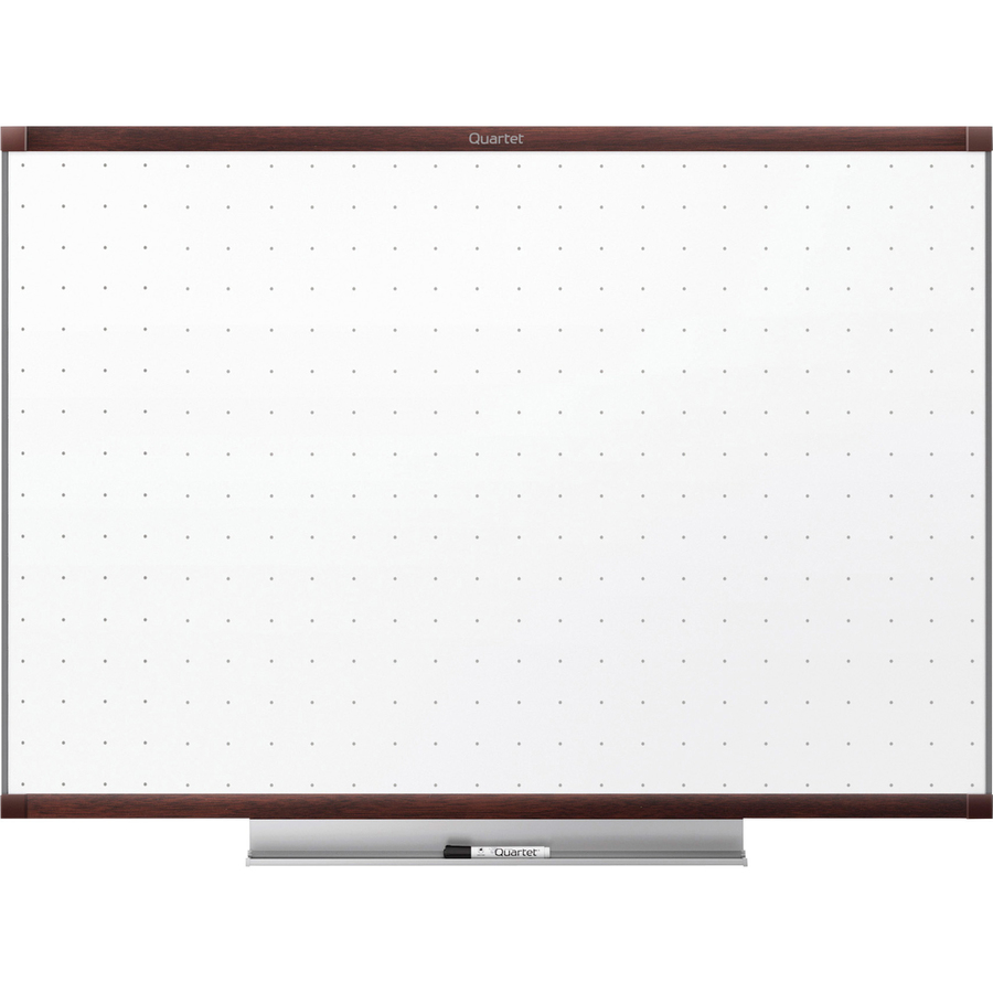 Acco Brands Corporation Quartet® Prestige® 2 Total Erase®whiteboard, 4 X 3, Mahogany Finish Frame - 48 (4 Ft) Width X 36 (3 Ft) Height - White Surface - Mahogany Frame - Horizontal - 1 / Each