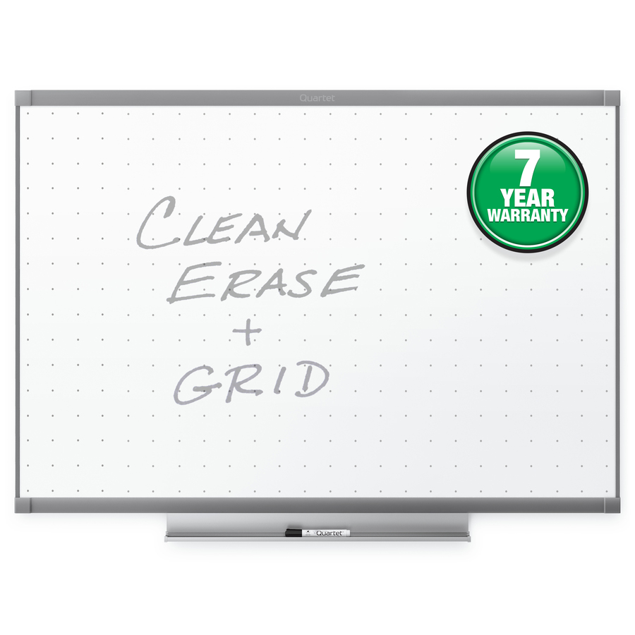 Acco Brands Corporation Quartet® Prestige® 2 Total Erase®whiteboard, 6 X 4, Graphite Finish Frame - 72 (6 Ft) Width X 48 (4 Ft) Height - White Surface - Graphite Frame - Horizontal - 1 / Each